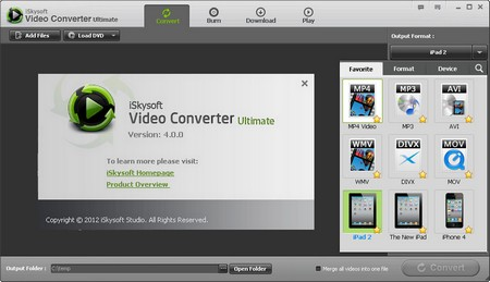 iSkysoft Video Converter Ultimate 4.0.0.1.