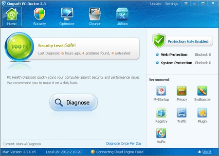 Kingsoft PC Doctor 3.3.0.65